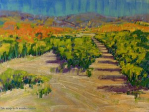 <b>Citrus Grove</b><br/>24 x 18<br/>Sold<br/>Finalist (landscape category), Annual Artist's Magazine, Art Competition 2006