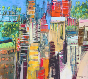 <b>City Skyline 3</b><br/>20 x 18<br/>Sold<br/>