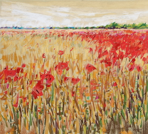 <b>Corn and Poppies XIV</b><br/>20 x 18<br/><br/>