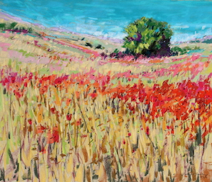 <b>Corn and Poppies XVIII</b><br/>20 x 18<br/><br/>
