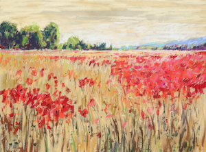 <b>Countryside Poppies 2</b><br/>24 x 18<br/><br/>