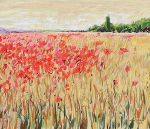 <b>Countryside Poppies 4</b><br/>24 x 18<br/><br/>