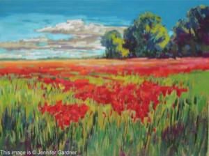<b>Countryside Poppies</b><br/>24 x 18<br/>Sold<br/>
