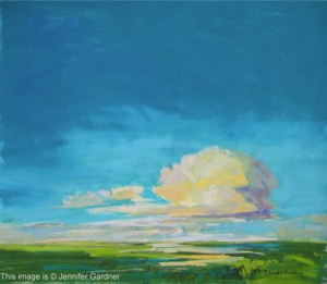 <b>Evening Light Marshes</b><br/>19 x 17<br/>Sold<br/>