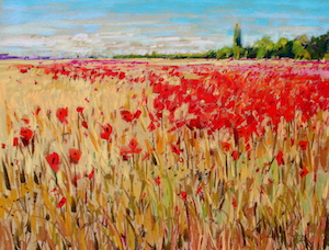 <b>French Poppies Afternoon Light</b><br/>24 x 18<br/><br/>