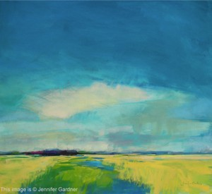 <b>Marsh and Clouds</b><br/>22 x 20<br/>Sold<br/>