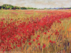 <b>Poppies and Corn V</b><br/>24 x 18<br/>Sold<br/>