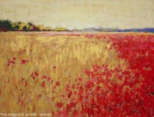 <b>Poppies and Corn</b><br/>24 x 18<br/>Sold<br/>