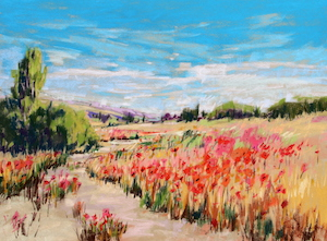 <b>Poppy Path III</b><br/>24 x 18<br/>Sold<br/>