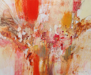 <b>Red and Gold Series 12</b><br/>20 x 18<br/>Sold<br/>