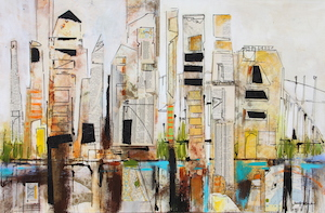 <b>Skyline 2 (Acrylic)</b><br/>36 x 36<br/>Sold<br/>