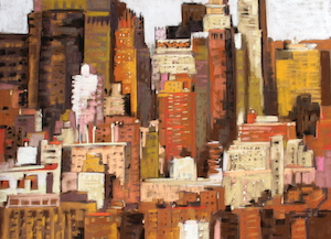 <b>Skyline, New York City 5</b><br/>30 x 22<br/>Sold<br/>