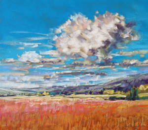 <b>Summer Clouds over Cornfield</b><br/>20 x 18<br/>Sold<br/>