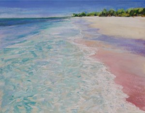<b>Turquoise Waters IV</b><br/>22 x 18<br/>Sold<br/>