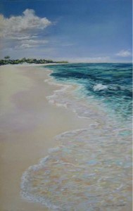 <b>Afternoon Stroll, Grand Cayman</b><br/>Image Size 10.75 x 17<br/>Framed Size 18.75 x 25<br/>Sold<br/>