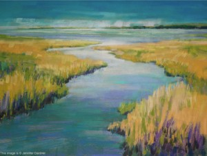 <b>Biddeford Marsh</b><br/>Image Size 24 x 18<br/>Framed Size 32 x 26<br/>Sold<br/>