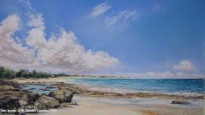<b>Rose Island, The Bahamas</b><br/>Image Size 18.5 x 10.5<br/>Framed Size 26.5 x 18.5<br/>Sold<br/>